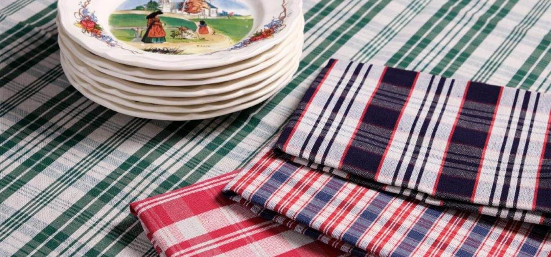 Serviettes de table en Kelsch d'Alsace